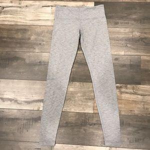 Lululemon Cotton Leggings White Grey Size 6